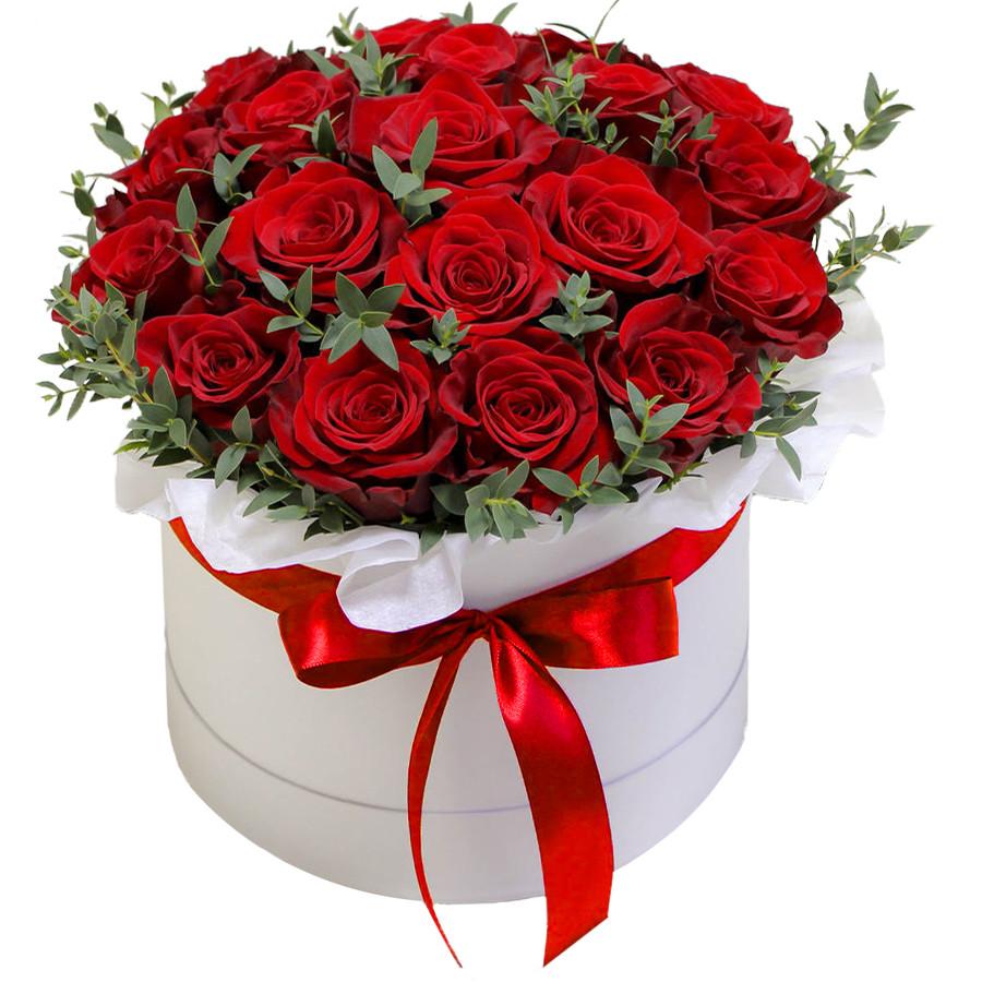 Розы в шляпной коробке №1